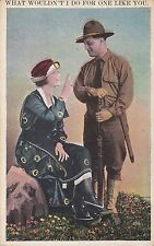 Carte postale ancienne ETATS-UNIS USA U.S. ARMY what wouldn't i do for one ...