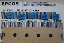 200pcs 100nf 63v capacitor polyester R5.0mm B32529C104K289  EPCOS ROHS
