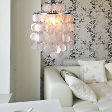Modern Crystal White Shell Pendant Lamp Chandelier Lighting Ceiling Bedroom