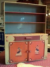 Ideal Toy Lithographed Tin Doll Hutch Kitchen Cupboard Pennsyvania Dutch Amish