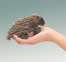 PORCUPINE BABY Mini Finger PUPPET # 2649 ~ FREE SHIP/ USA ~ Folkmanis Puppets