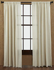 Tobacco Cloth Natural Window Panels Country Unlined Curtains Creme Cream White