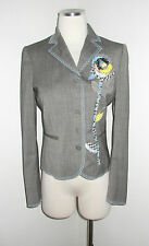 MOSCHINO CHEAP AND CHIC VIRGIN WOOL FLORAL DETAIL JACKET 8