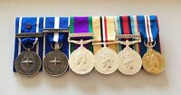 NATO IFOR, KFOR, GSM NI, Iraq, Herrick, Golden Jubilee, Full Size Mounted Medals