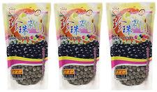 3 Packs of Wufuyuan Black Tapioca Pearl 250g for Bubble Tea Drink Boba Milk tea