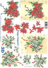3D Motivbogen Etappenbogen Bilderbogen Grußkarte Weihnachtsstern (294)