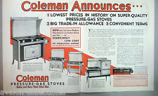 Coleman Gas Stove Centerfold PRINT AD - 1931 ~~ gas stoves