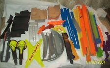 Vintage 1980-90's HUGE Lot 75 Pieces Hot Wheels Mixed Race Track Parts & Tracks