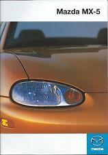 Mazda MX5 UK Market Brochure 1998 Inc 1.6i 1.8i 1.8iS Plus Specifications