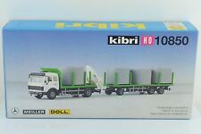 Kibri 10850 Mercedes Actros Truck w/ Trailer / Crane and Load Kit 1:87 HO Scale