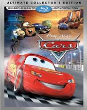 Cars 3D Ultimate Collector's Edition (Blu-ray 2D/3D, DVD, Digital Copy) NEW!!