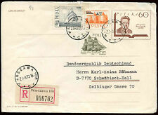 Poland 1973 Registered Cover To Germany #C23428