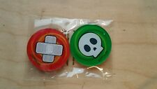 Official Pokemon Acrylic Coin Burn and Poison Marker Counter TCG New Sealed