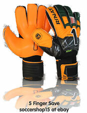 Rinat goalkeeper gloves(green/orange Kids size 6) Supreme 2.0- 5 finger save