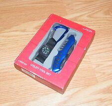 Target Brand - 2 Piece Utility Tool Set - Blue Pocket Knife & Compass *NEW-READ*