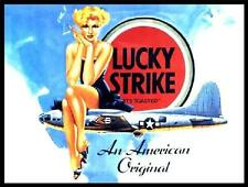 LUCKY STRIKE CIGARETTE VINTAGE ADVERT 15X20 STEEL WALL PLAQUE QUALITY RETRO SIGN