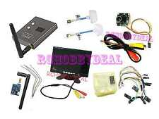 "FPV AV 7"" HD LCD Monitor Mini CCD Camera CC3D board 5.8G TS5823 200mW RX RC832"