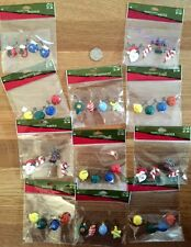 lot of 11 assorted kaolin wire CHRISTMAS craft decor scrapbooking ornaments #1