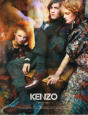 PUBLICITE ADVERTISING 104  2009   KENZO  haute couture mode homme