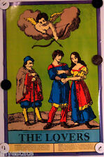 US Game Systems 1970 Vintage Tarot Cards Poster The Lovers Printed USA Fortune