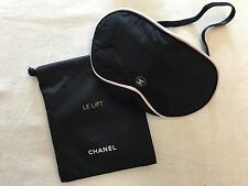 Brand New CHANEL Travel Blindfold Sleeping Eye Mask with Drawstring Bag