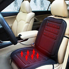 Black 12V Car SUV Heated Heating Pad Hot Front Seat Cushion Cover Warmer Winter