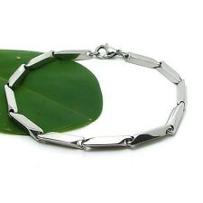 Charms Stainless Steel Mens/Womens Bracelet 8.2inch Chain Link Fashion Jewelry