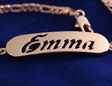 18ct Plaqué or Rose Nom Bracelet - EMMA - Noël Mère Copine Femme Cadeau
