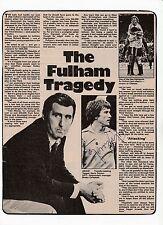 FULHAM BOBBY CAMPBELL/JOHN BECK/GERRY PEYTON RARE ORIG SIGNED MAGAZINE CUTTING