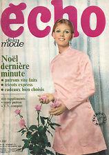 echo de la mode N°50 robert hirsch theodore botrel robert dhery 1968