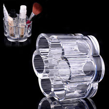 Plum Flower Clear Shaped Cosmetic Lipstick Brush Holder Makeup Case Organizer