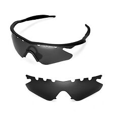 New WL Polarized Black Vented Sunglasses Lenses For Oakley M Frame Heater