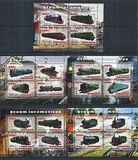RWANDA 2013 TRAIN LOCOMOTIVES LOKOMOTIVE 5X MINI SHEET SET **