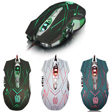 10 Buttons 4000DPI Optical LED Mice Wired Gaming Mouse For DotA FPS Laptop PC