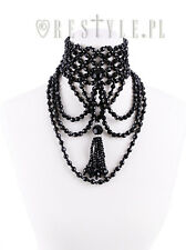 Restyle Tessel Choker Gothic Punk Emo Evening Beads Collar Jewelry Necklace