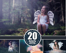 20 Angel butterfly magic wings Photo Overlays, Digital Download, png files