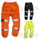 Hi Viz Work Wear Thick Trouser Safety Joggers Jogging Bottoms GO/RT Railway