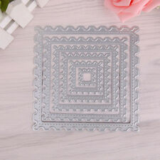 6pcs Square Stamp Cutting Dies Stencils Scrapbooking Album Card Embossing Craft