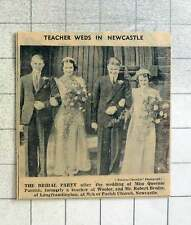 1939 Miss Queenie Parrish, Formerly Wooler Teache Weds Robert Brodie Of Longfram
