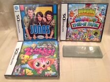 NEW Nintendo DS Game Lot! Disney Jonas (Brothers), Zoobles & Moshi Monsters! K62