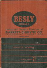 Besly Co. Catalog 1946 Industrial Supplies Tools Taps Grinders Jacks ASBESTOS