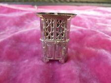 VINTAGE STERLING SILVER PILL BOX IN THE FORM OF AN ARMOIRE