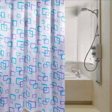 Shower Curtain Bathroom Waterproof Polyester Fabric Random Pattern & Hooks OJ