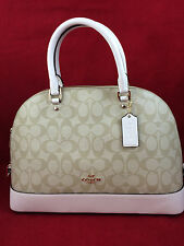 New COACH F37233 Sierra Signature Dome Satchel Handbag Purse Shoulde Bag Chalk