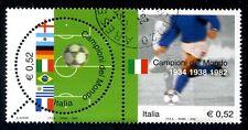 ITALIA 2002 - CALCIO CAMPIONI DEL MONDO DITTICO USATO