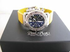 PAUL PICOT PP-4116BC Le Plongeur C-Type Black Grey 43mm Chonograph New