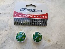 ELECTRA GREEN PEACOCK VALVE CAPS CRUISER SCHWINN BICYCLE CUSTOM ACCESSORY  CAR