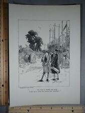 Rare Antique Orig VTG Man Of Wealth & Pride...Poor Supplied Illustration Print