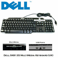 Genuine dell USB KEYBOARD MULTIMEDIALE Nero Desktop PC sk-8135 (UK)