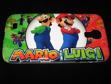 Mario Hard Cover Case for Samsung S4 IV Mario & Luigi Split Screen Multi-Scene